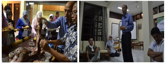 Dr. Nahrowi sensei joined our kambing guling party and gave an opening speech to open Summer Course 2014