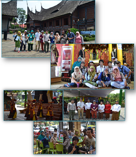 Group B Member in Rumah Gadang, watched traditional dance festival, and took sweety lunch in TMII