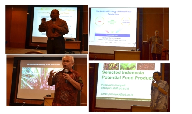 Lectures day with Dr. Suryo Adi W., Dr. Sugiyanta, Dr. Sudrajat, and Dr. Purwiyatno about Sustainable Agriculture ^^