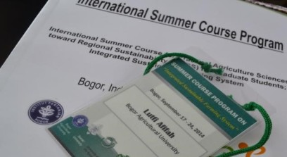 International Summer Course nametag that committee gave to each participant