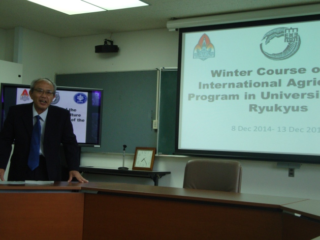 Kawamoto sensei gave opening speech of Winter Course