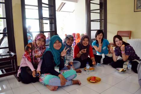 Sweety lunch with all of the participant